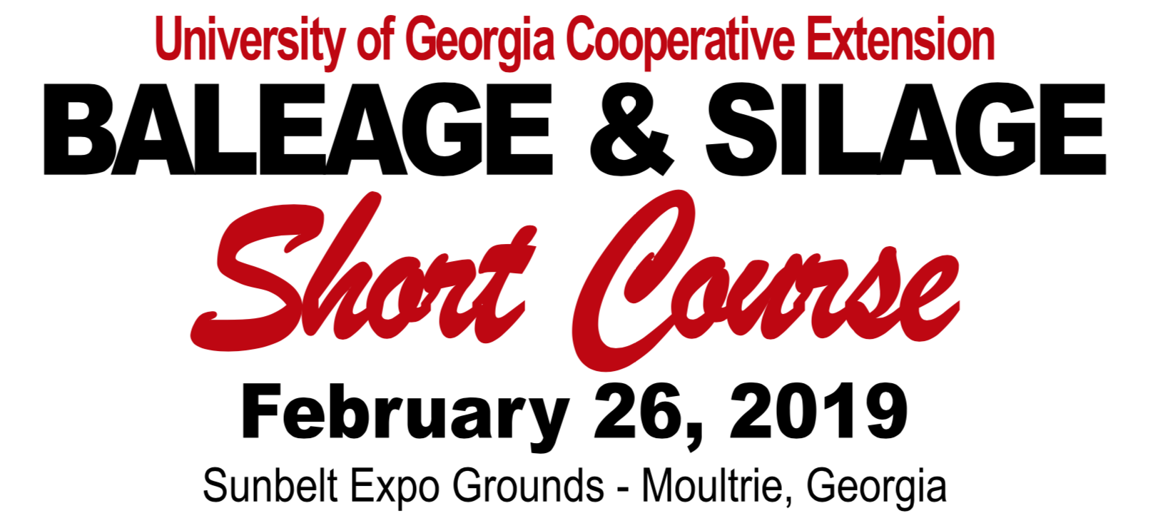 Baleage and Silage Short Course - Moultrie, GA